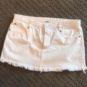 White Denim Free People Mini Skirt